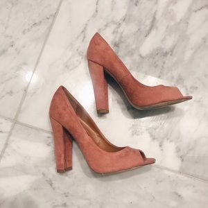 Blush Suede Heels (Windsor)